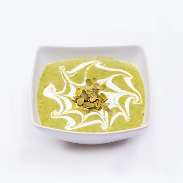 Crema de brocoli cu seminte de dovleac